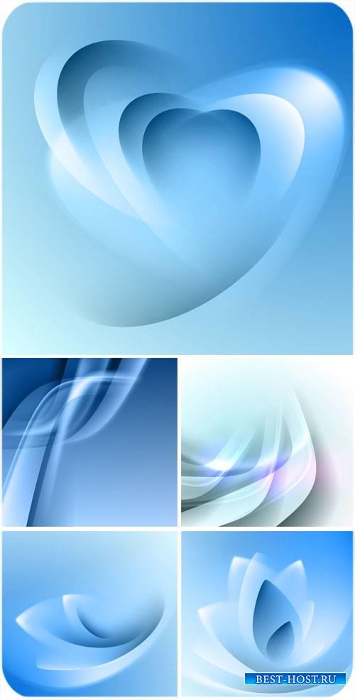 Синие векторные фоны с абстракцией / Blue vector backgrounds with abstracti ...