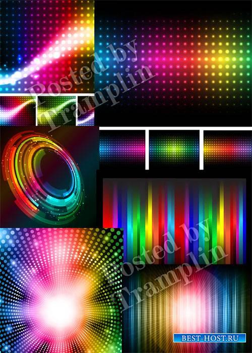Радужные светящиеся фоны в векторе - Iridescent shining backgrounds in a vector