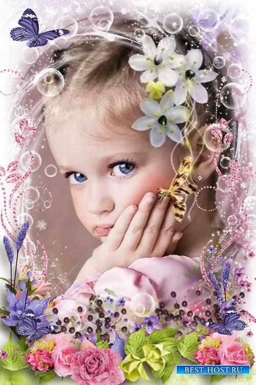 Цветочная рамка для фото - Жарче роз благоуханье