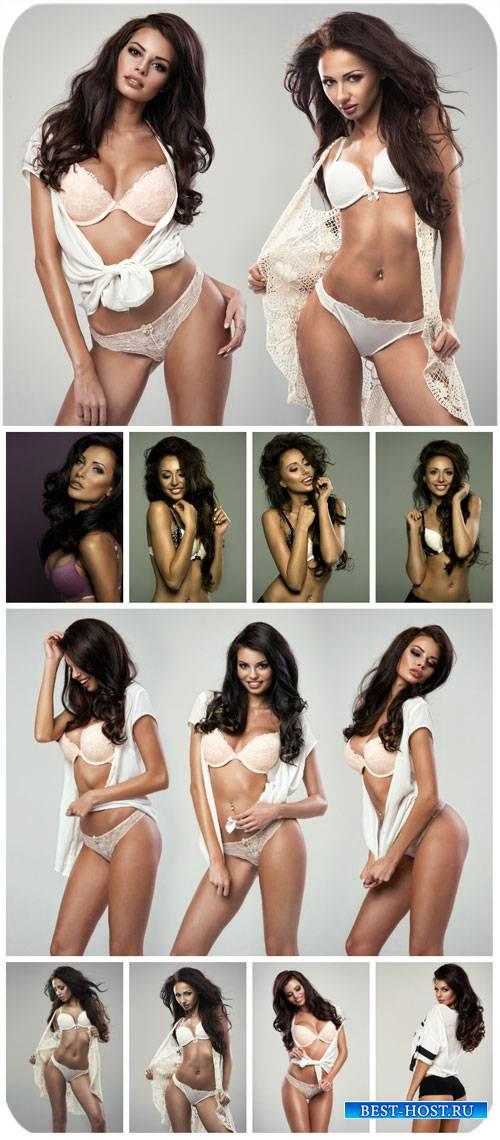 Гламурные девушки в нижнем белье / Glamour girls, girls in lingerie - Stock ...