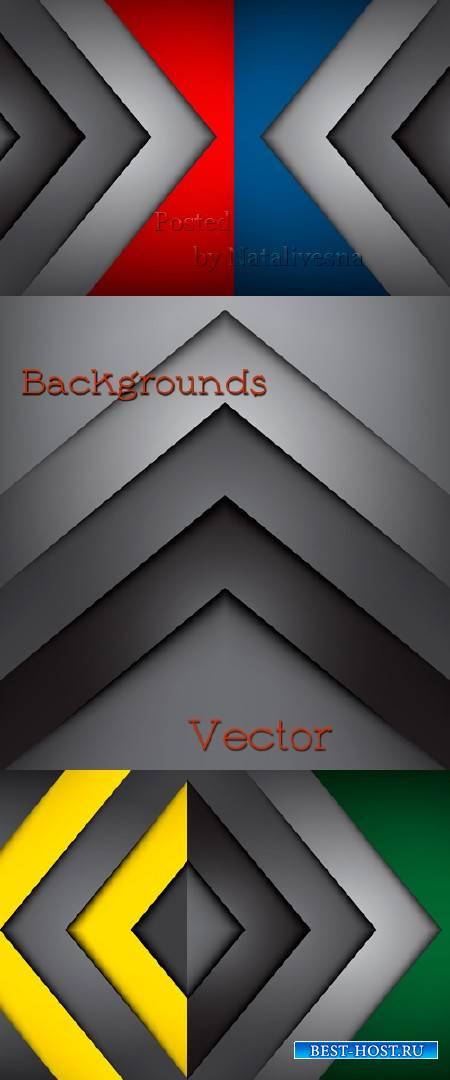 Цветные фоны в Векторе  с декоративными углами