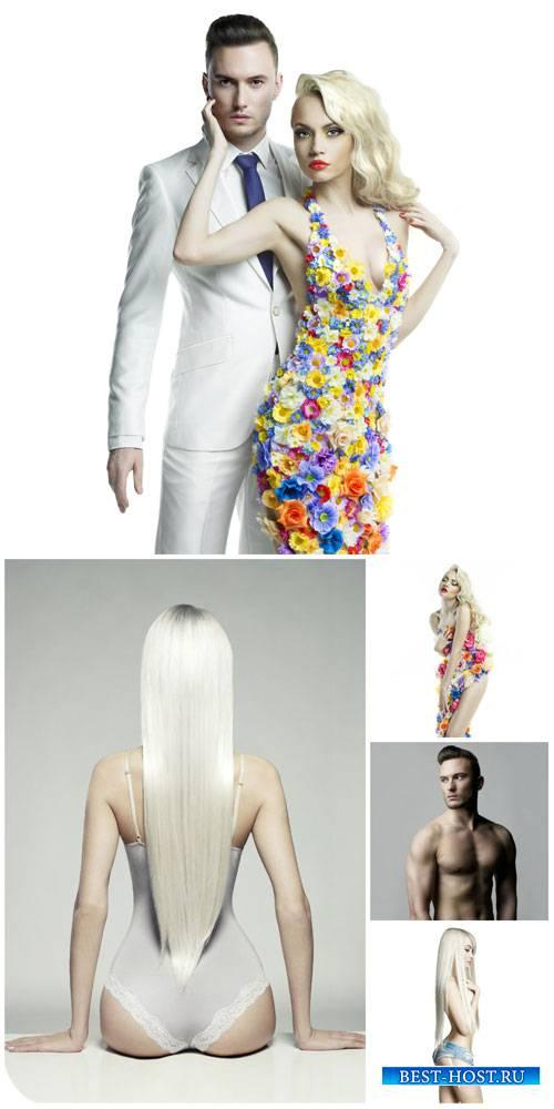 Модные люди, мужчина и женщина / Fashionable people, man and woman - Stock  ...
