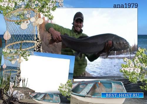Рамка для фотошоп - Любитель-рыболов