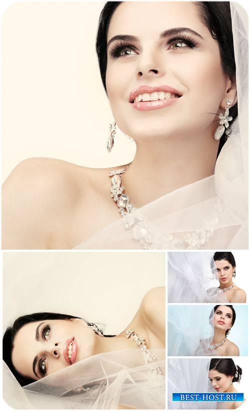 Невеста, красивая девушка / Bride, beautiful girl - Stock Photo