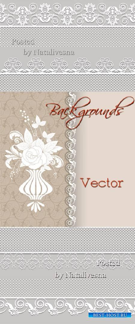 Фоны бежевые в Векторе с декоративными узорами
