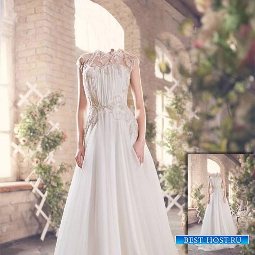 Фотосет в белом платье - Шаблон для девушек