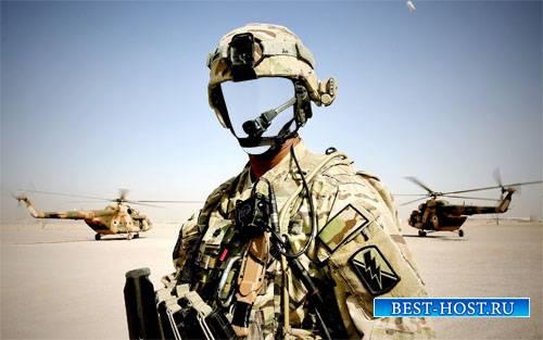Шаблон мужской - Военный в экипировке