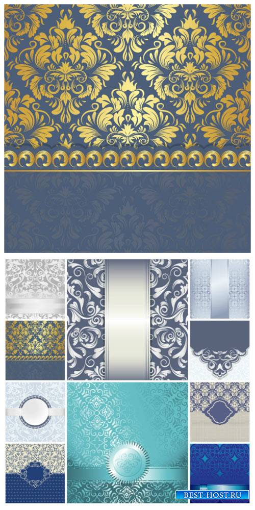 Фоны с золотыми и серебристыми узорами / Backgrounds with gold and silver ornaments