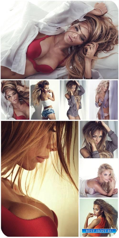 Красивые женщины / Beautiful women, girls in lingerie - Stock Photo