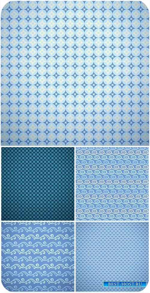 Синие текстуры, фоны в векторе / Blue textures, backgrounds vector