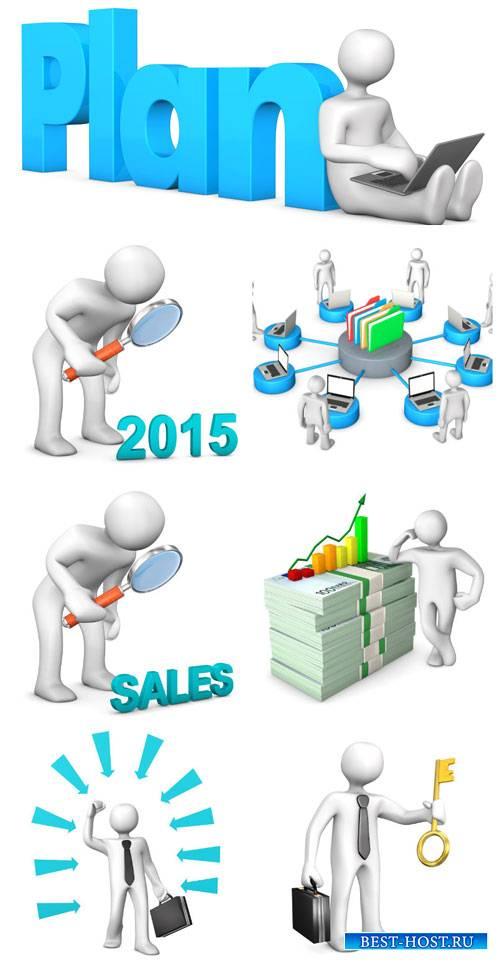 3D люди 2015 / 3D people in 2015 - stock photo