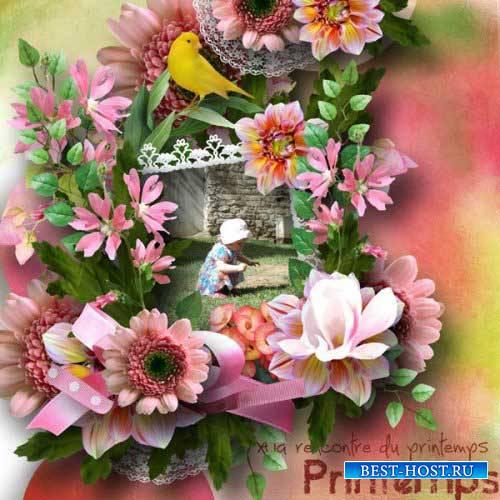 Яркий цветочный скрап-комплект - Цветочный сезон