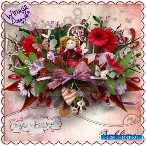 Цветочный скрап-комплект - Величественный