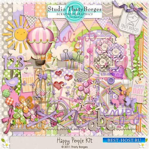 Детский скрап-комплект - Счастливые люди