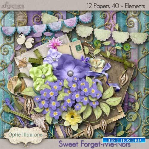 Цветочный скрап-комплект - Sweet Forget-Me-Nots