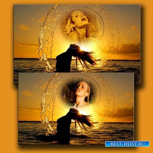 Рамка для фотошоп - Восхитительная фотосессия в воде