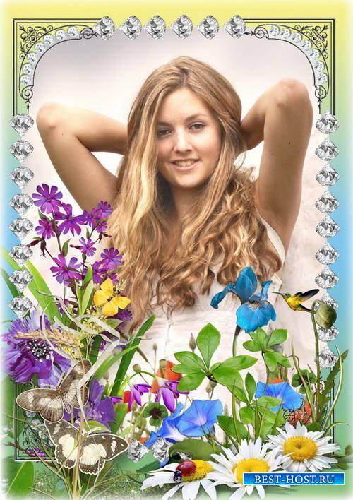 Летняя рамка для фото - Цветочный аромат