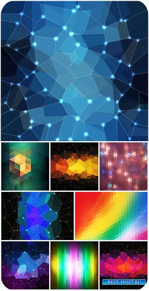 Цветная абстракция, фоны с сиянием в векторе / Color abstraction background ...
