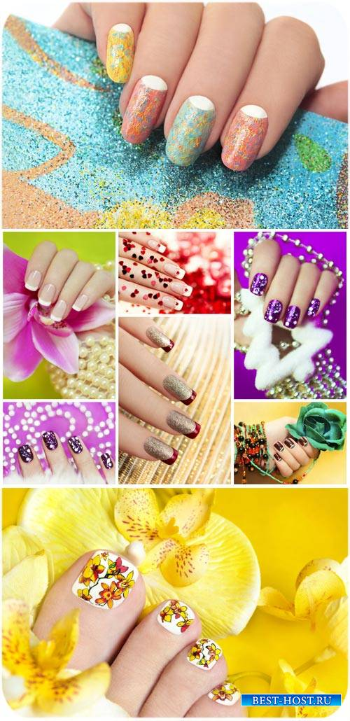 Модный маникюр, педикюр / Fashionable manicure, pedicure - Stock photo