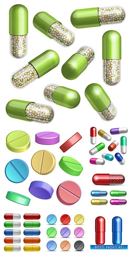Медицина в векторе, таблетки и капсулы / Medical vector, tablets and capsules