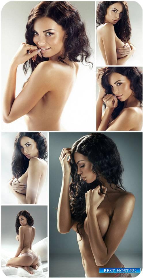 Красивая обнаженная девушка / Beautiful naked girl - Stock Photo
