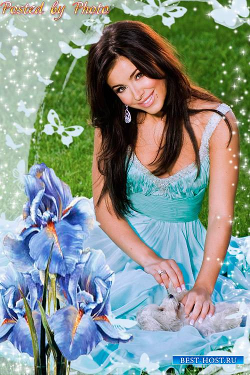 Цветочная рамка - Чарующие ирисы