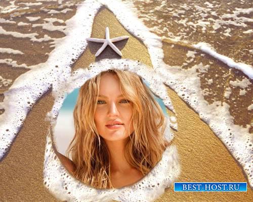 Рамка для фотошопа - Звезда на пляже