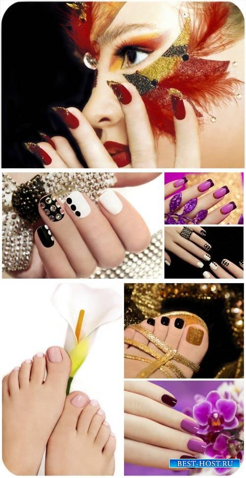 Маникюр и педикюр, мода, уход за руками / Manicure and pedicure, fashion, hand care - Stock photo