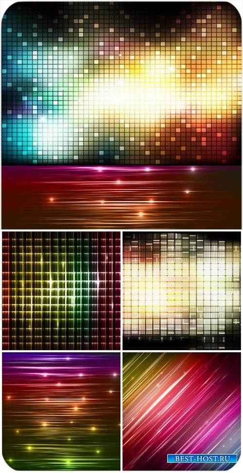 Векторные сверкающие фоны, абстракция / Vector glittering background, abstract
