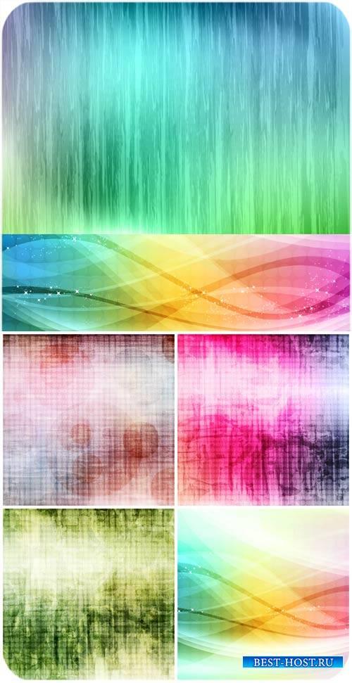 Винтажные векторные фоны с цветной абстракцией / Vintage vector backgrounds ...
