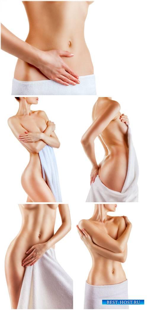 Красивое женское тело, уход за телом / Beautiful female body, body care - Stock photo