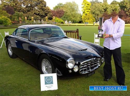 Шаблон для фото - Старенькое авто Maserati