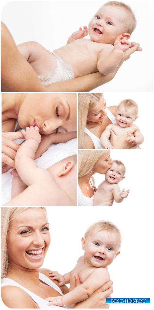 Счастливая женщина с маленьким ребенком / Happy woman with a small child -  ...