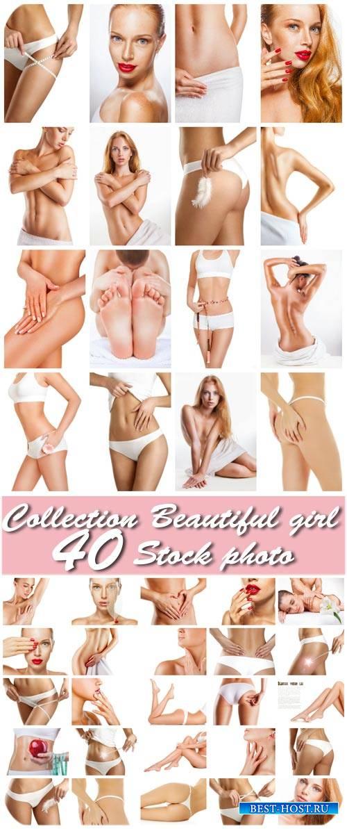 Женское тело, красота и уход за телом / Female body, beauty and body care - Stock photo
