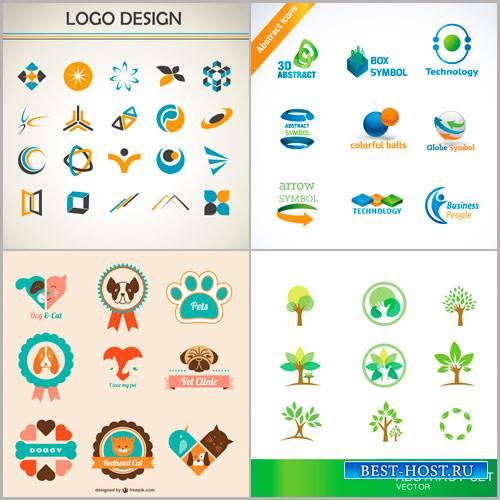 Векторные логотипы на разную тему