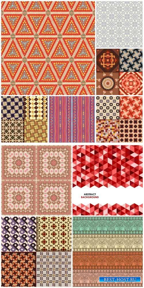 Фоны с узорами, цветочные тектуры в векторе / Backgrounds with patterns, floral ture vector