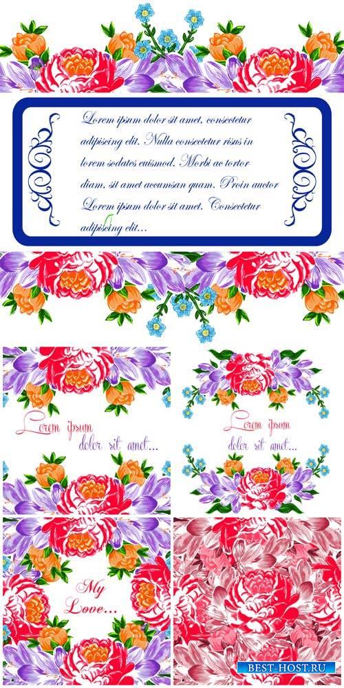 Цветочные векторные фоны  / Floral vector backgrounds