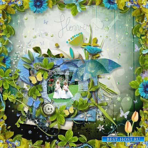 Яркий цветочный скрап-комплект - принцесса Фиона
