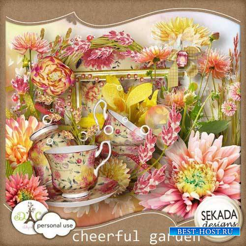 Цветочный скрап-комплект - Весёлый сад