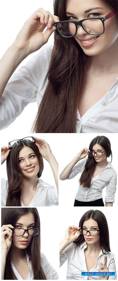 Красивая бизнес леди в очках / Beautiful business woman wearing glasses - S ...
