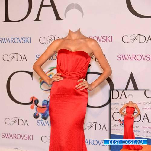 Женский шаблон - Модель в красивом платье