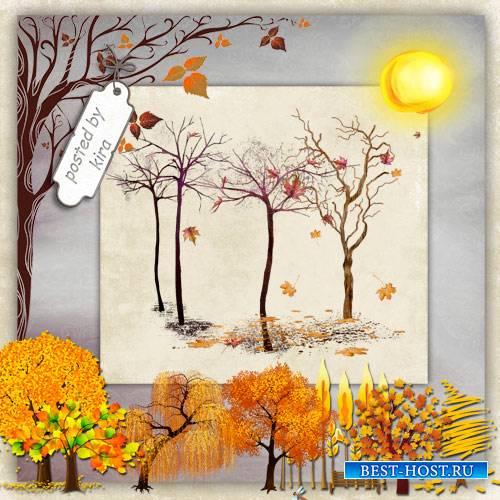 Клипарт  - Осенние деревья
