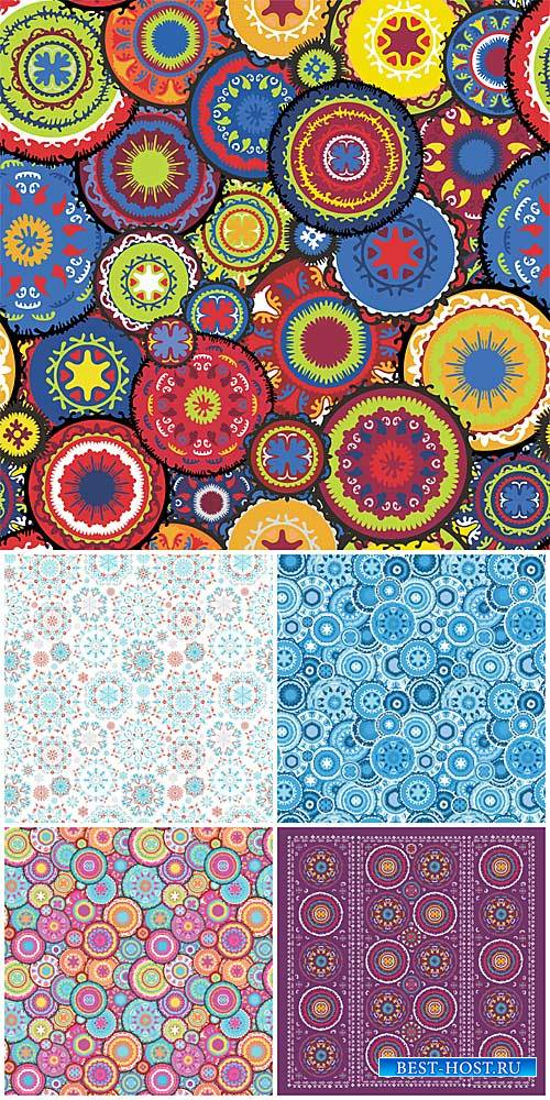 Векторные фоны с узорами / Vector background with patterns