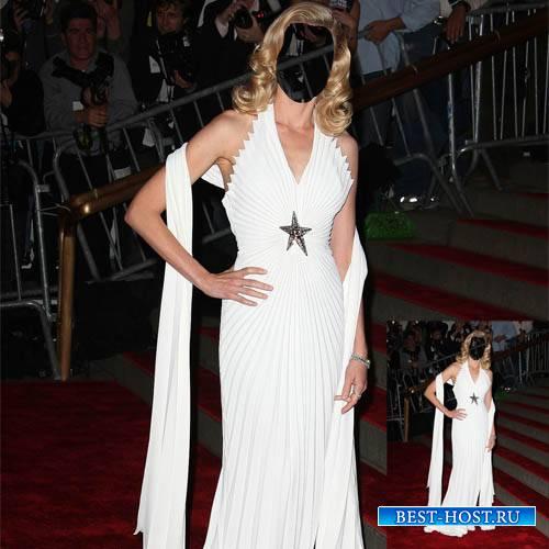 Шаблон для Photoshop - Звезда в шикарном платье