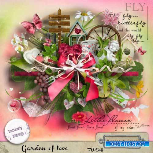 Романтический скрап-комплект - Сад любви