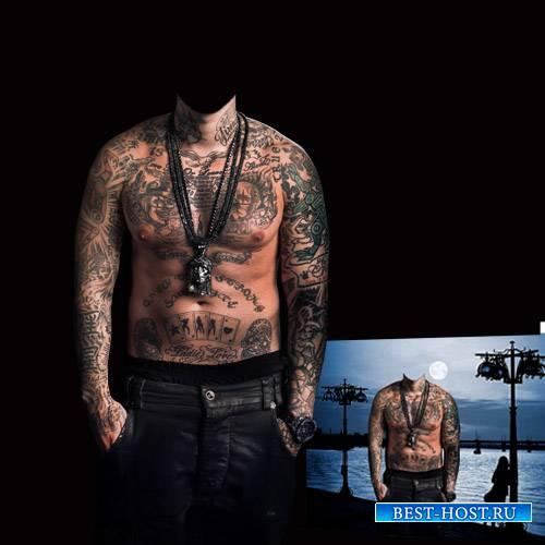 Шаблон для Photoshop - Весь в тату
