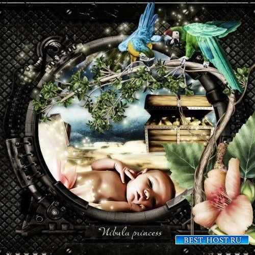 Приключенческий скрап-комплект - Королевство пиратов и принцесс