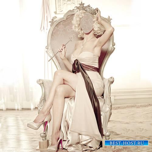 Шаблон для фотошопа - Девушка с короной
