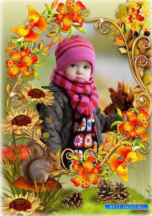 Осенняя рамка для оформления фото - Природа осенью