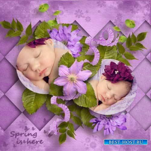 Цветочный скрап-комплект - Цвета весны